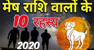 मेष राशि की विशेषताएँ | Aries Horoscope 2020 | 2020 Rashifal in Hindi |