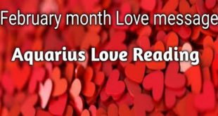 Aquarius Love Reading February month(Hindi Tarot Reading)