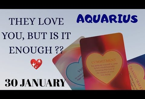 Aquarius daily love reading ✨ THEY LOVE YOU, BUT IS IT ENOUGH ?✨ 30 JANUARY 2020