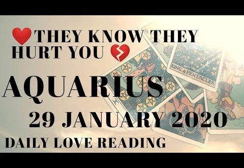 Aquarius daily love reading ⭐ THEY KNOW THEY HURT YOU ⭐ 29 JANUARY 2020