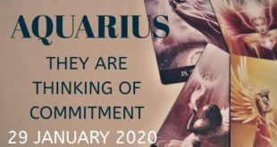 Aquarius daily love reading 💖 THEY ARE THINKING OF COMMITMENT 💖 29 JANUARY  2020