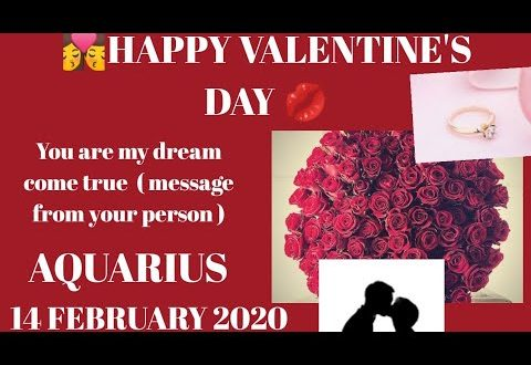 Aquarius daily love reading 💗 YOU ARE MY DREAM COME TRUE (MESSAGE FROM YOUR PERSON)14 FEBRUARY 2020