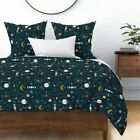 Astrology Planets And Constellations Zodiac Sun Sateen Duvet Cover by Roostery