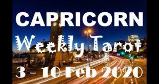 CAPRICORN WEEKLY TAROT ASTROLOGY HOROSCOPE 3 - 10 FEBRUARY 2020 (SPECIAL LEO FULL MOON)
