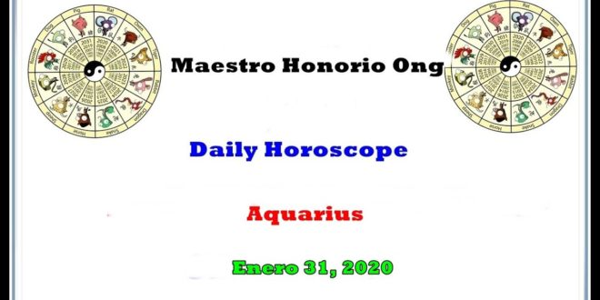 Daily Horoscope, Aquarius, Enero 31, 2020