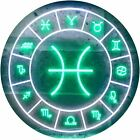 Pisces Astrology Zodiac Dual Color LED Neon Sign st6-i3321