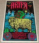 SPIRIT OF ARIES Zodiac Sign Astrology Flocked Blacklight Poster 1976 Funky