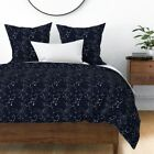 Virgo Space Star Astrology Zodiac Horoscope Sateen Duvet Cover by Roostery