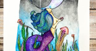 Zodiac: Cancer - Pen & Watercolor . . Commission for a friend (  ). . . Wanted a...