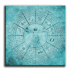Abstract Zodiac Map Single Canvas Wall Art Picture Print 211