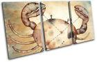 Zodiac Cancer  Starsign TREBLE CANVAS WALL ART Picture Print