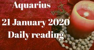 Aquarius daily love reading 💖 (NO CONTACT) THEY WILL SOON BREAK THE NON-CONTACT 💖21 JANUARY 2020