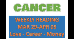 CANCER WEEKLY READING - LOVE - CAREER - MONEY