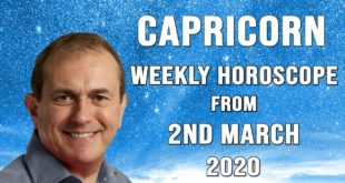 Capricorn Weekly Horoscope from 2nd March 2020