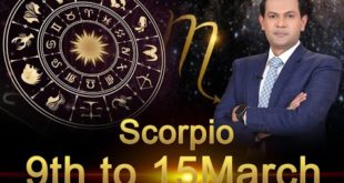 Scorpio Weekly Horoscope 9MarchTo15March 2020