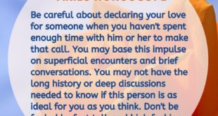 Be careful about declaring love to someone you didn't spend enough time with.⠀⠀⠀...