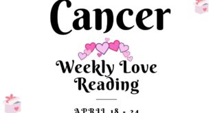 Cancer weekly love tarot reading 💖YOUR PERSON IS LOYAL AND TRUSTWORTHY  !! 💖 18 - 24 APRIL 2020