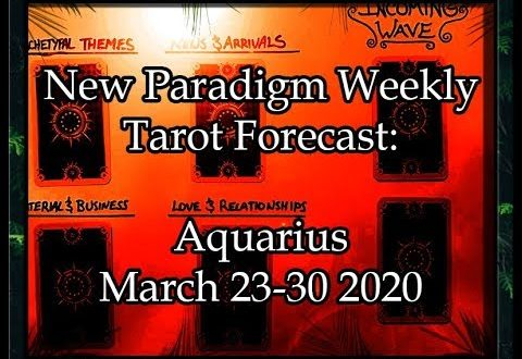 Aquarius Weekly Tarot Reading March 23-30 2020 ~  Severed Tethers || New Paradigm Forecast