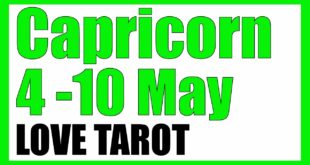 NEW COMMITMENT - CAPRICORN WEEKLY LOVE TAROT READING