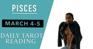 """PISCES - """"THE END OF TOXICITY, A NEW LOVER COMES IN"""" MARCH 4-5 DAILY TAROT READING"""