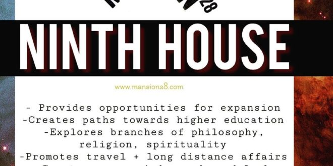 The Ninth House : The House of Higher Thought - The 9th House symbolizes our abi...