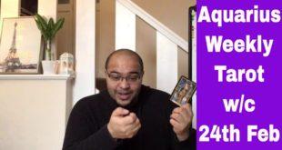 Aquarius Weekly Tarot **A powerful TWIST OF FATE!** 24th-1st March 2020 #Aquarius #Tarot