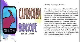 Capricorn Monthly Horoscope (March)