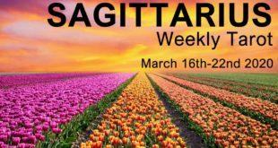 "SAGITTARIUS WEEKLY TAROT READING  ""A MAJOR ACHIEVEMENT SAGITTARIUS!""  March 16th-22nd 2020 Forecast"