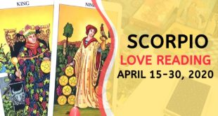 SCORPIO LOVE ~ Wanting More For Yourself ~ April 15-30, 2020 Tarot Reading